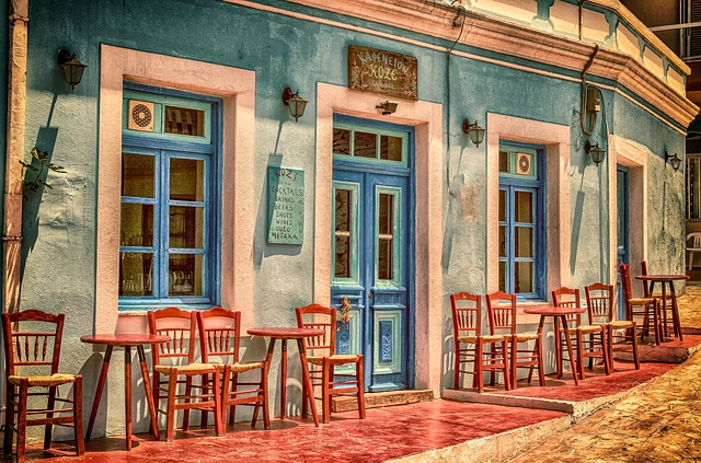 חלונות של בית קפה